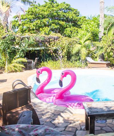 restaurant La Bohème piscine et jardin